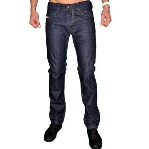 diesel en solde jean homme belther 88z slim tapered bleu brut uni w32 l32 pas cher. Black Bedroom Furniture Sets. Home Design Ideas