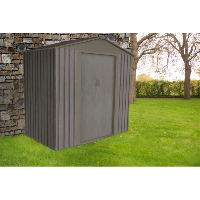 CHALET & JARDIN Abri de jardin en métal 6x4
