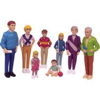 """Miniland - set de 8 personnages, """"la famille europeenne"""