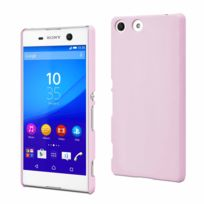 Made For Xperia - Mfx Coque Arriere Rubber Rose Clair Pour Sony Xperia M5