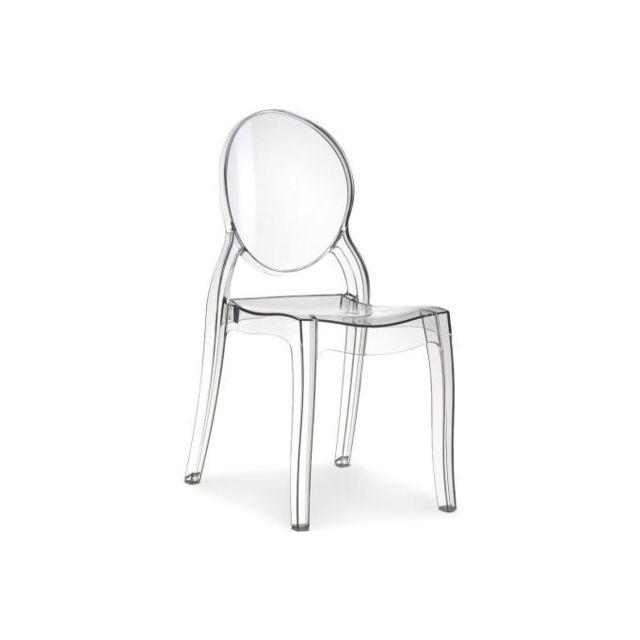 declikdeco chaise baroque elizabeth transparente - Chaise Baroque