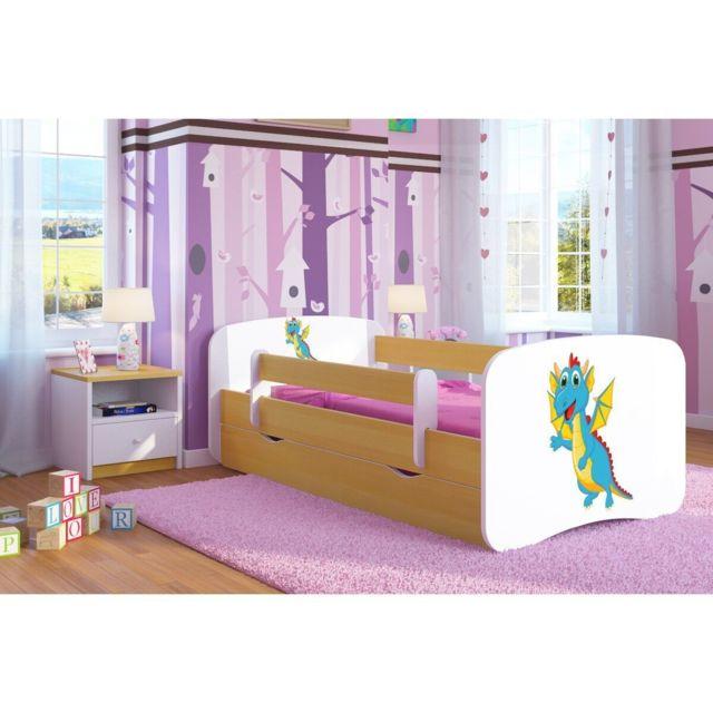 carellia lit enfant dragon 80 cm x 160 cm avec. Black Bedroom Furniture Sets. Home Design Ideas