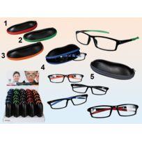 Sans - Paire lunette de lecture +1.50 avec étui simili Cuir - Loupe  Grossissante - b3858ac7ef08