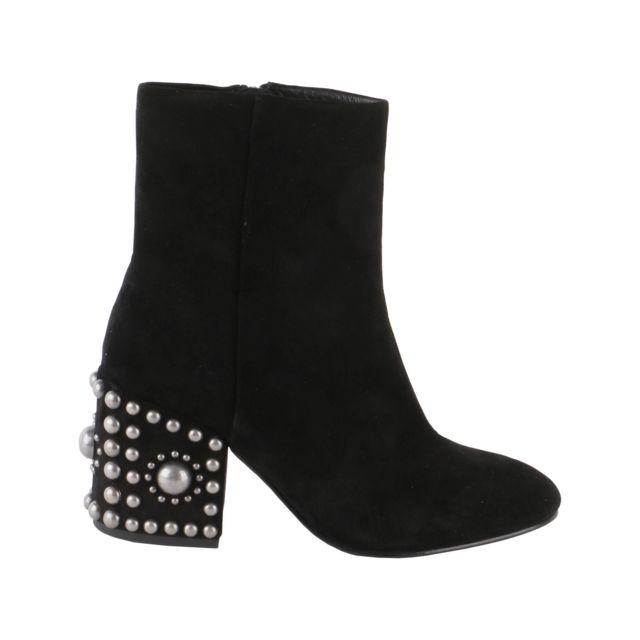chaussures de sport f9261 8985f Femme Era01 Noir SuÈDE Bottines