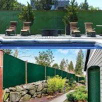 ProBache - Brise vue renforcé 1 x 10 m vert 220 gr/m² luxe pro
