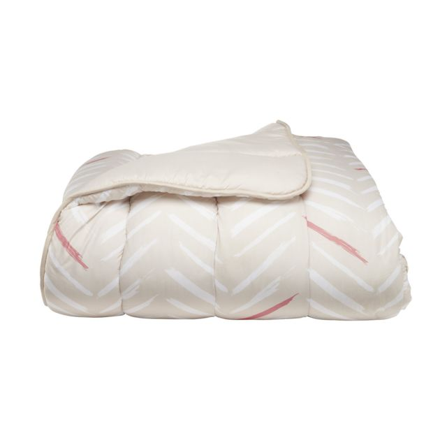 TEX HOME Couette MICROFIBRE IMPRIMEE en polyester Couette MICROFIBRE IMPRIMEE en polyester 200x200 cm - beige