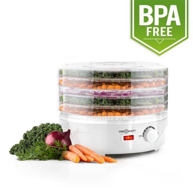 ONECONCEPT Bonsai Déshydrateur alimentaire 5 étages 250 watt ? blanc