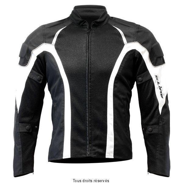 s line blouson moto route summerwoman taille xs noir blanc pas cher achat vente blouson. Black Bedroom Furniture Sets. Home Design Ideas