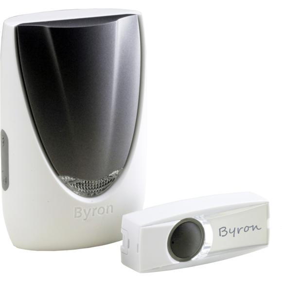 Byron - Sonnette de porte sans fil blanc