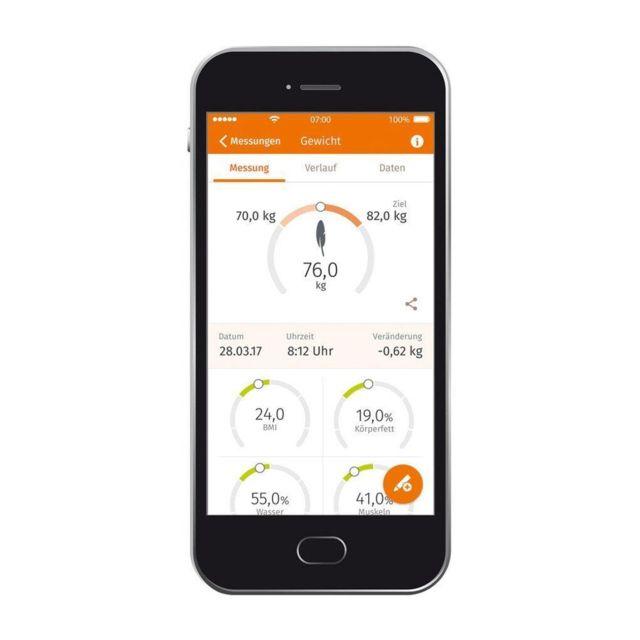 BEURER Impédancemètre connecté via bluetooth Une activité physique suffisante, un régime sain et un poids de forme sont essentiels à votre santé.La gamme de pèse-personnes arrondis allant des pèse-personnes imp&ea
