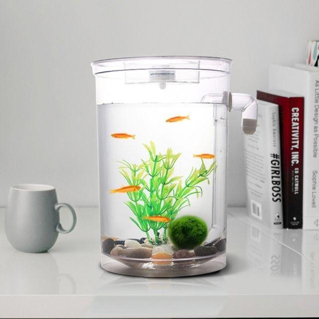 Wewoo Décoration aquarium Bol de poissons d'or d'aquarium de bureau écologique créatif mini d'or, réservoir d'eau paresseux av