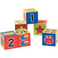 - cubes en plastique - boite de 6