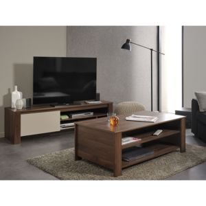 altobuy alessio ensemble table basse meuble tv marron pas cher achat vente meubles tv. Black Bedroom Furniture Sets. Home Design Ideas