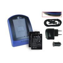 mtb more energy® - 2 Batteries + Chargeur USB, En-el14 pour Nikon D3100, D3200, D5100
