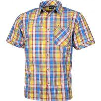 High Colorado - Zell - Chemise manches courtes - jaune/bleu