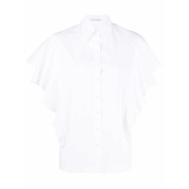 ALBERTA FERRETTI Femme A021416260001 Blanc Coton Blouse
