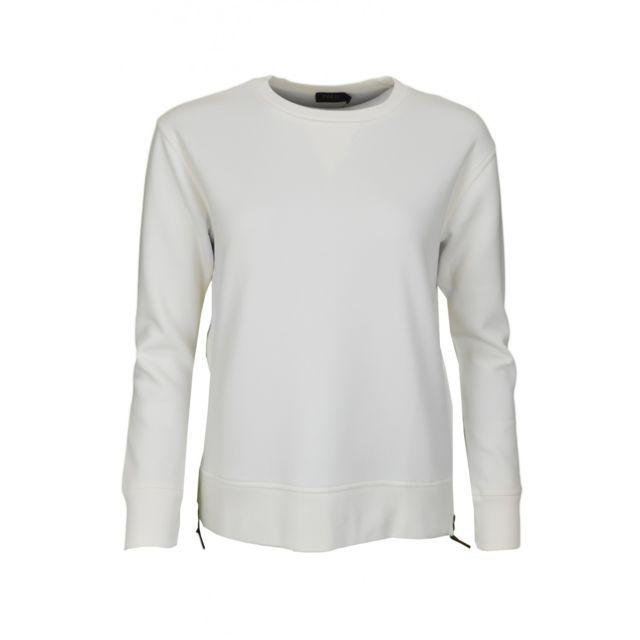 Ralph Lauren - Sweat avec zip latéral blanc pour femme - pas cher Achat   Vente  Sweat femme - RueDuCommerce 9a156f64374c