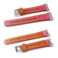 Autre - Bracelet en cuir véritable poignet rose pour votre Fitbit Ionic