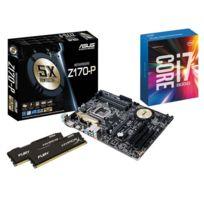 RUE DU COMMERCE - Kit EVO Skylake - INTEL Core i7 6700K - ASUS Z170-P - 2x 4 Go DDR4 KINGSTON HyperX Fury 2133 MHz CAS 14