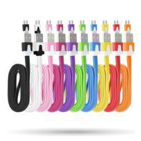 Shot - Cable Chargeur pour Asus Zenfone 2 Usb / Micro Usb Noodle Universelle ROSE Bonbon