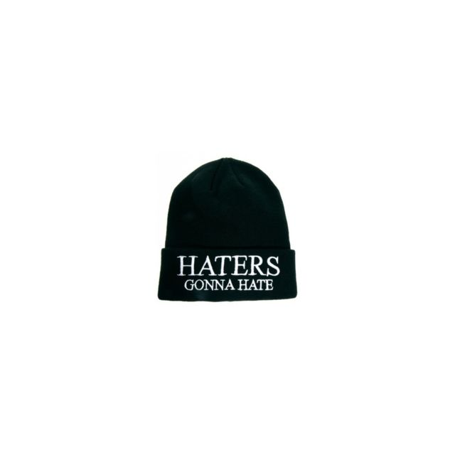 2df2cbec6c7 Magiccustom - Magic custom - Bonnet noir haters gonna hate - pas ...