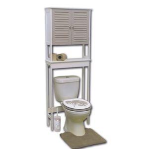 tendance meuble dessus wc 1 tablette taupe pas cher achat vente colonne de salle de bain. Black Bedroom Furniture Sets. Home Design Ideas