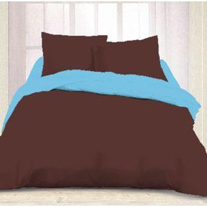 dourev housse de couette bachelor 220x240cm 2 taies 100 coton pas cher achat vente. Black Bedroom Furniture Sets. Home Design Ideas