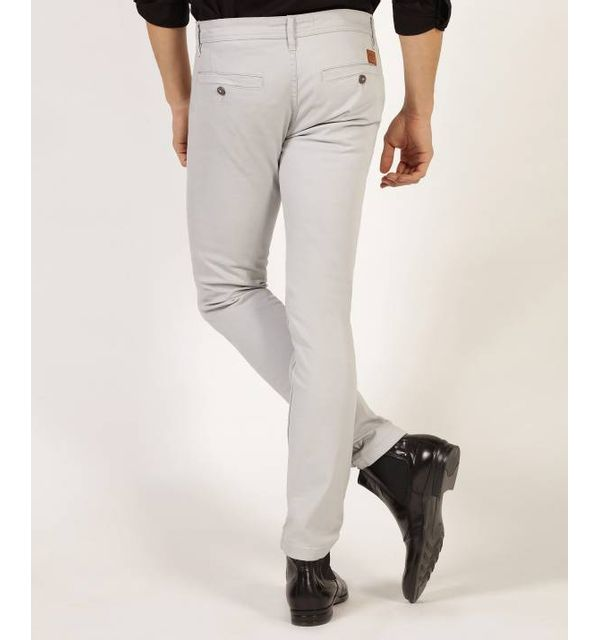 Redskins Pantalon chino grey en coton stretch, coupe droite - CODY2 MAHEVAN - 29 Pantalon chino en coton stretch, coupe droite