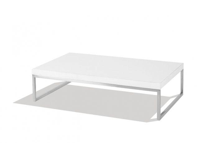 plateau Mose basse rectangulaire pas Table blanc cher Ygfv6b7y
