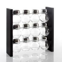 Secret Gourmet - Présentoir à épices 12 pots en verre