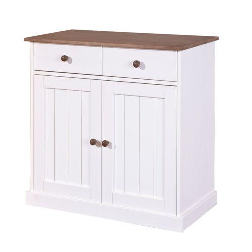 soldes comforium commode contemporaine 90 cm en pin massif avec 2 portes 2 tiroirs coloris. Black Bedroom Furniture Sets. Home Design Ideas