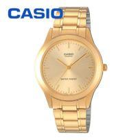 Casio - mtp1128N 9A Montre à aiguilles Homme Bracelet acier Couleur Or.Montre dorée pas chère