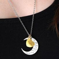 b84162048a0d0 Wewoo - Collier argent et or pour la famille, diamètre 3cm, périmètre 9,