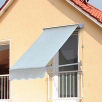 OUTSUNNY - Store banne manuel inclinaison réglable aluminium polyester imperméabilisé 120L x 70l cm beige neuf 89