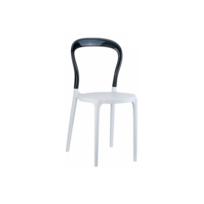 Declikdeco - Chaise design noire et blanche Elegant