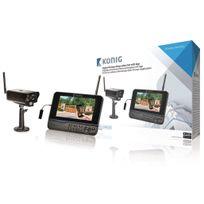König - Kit de caméra digital sans fils avec moniteur 2.4 Ghz - 1x Camera