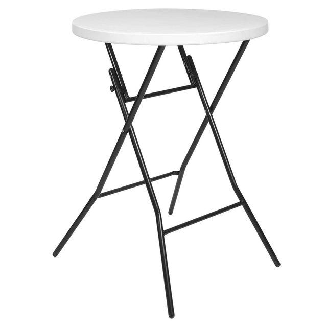 Mobeventpro Table haute de bar - Mange debout pliant diam. 80 cm