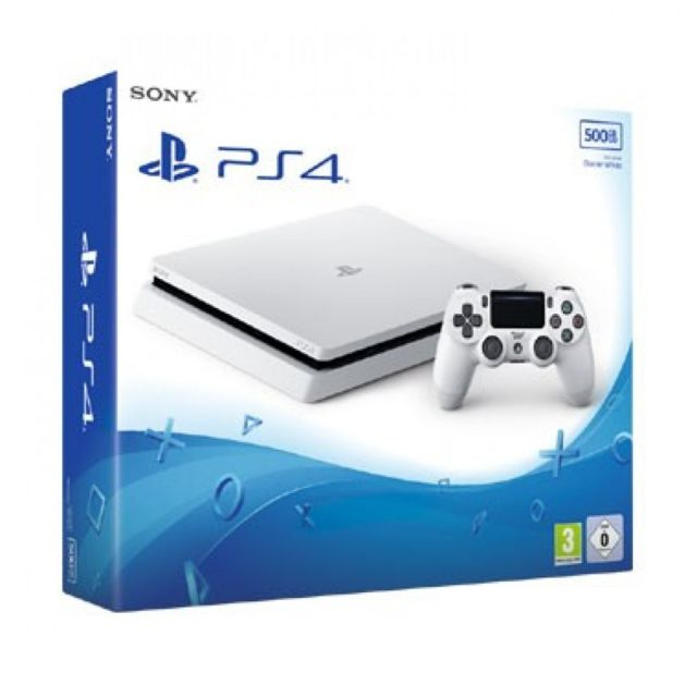 sony console ps4 slim 500go ch ssis e blanche pas cher achat vente console ps4 rueducommerce. Black Bedroom Furniture Sets. Home Design Ideas