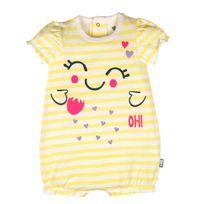 Petit Beguin - Barboteuse manches courtes bébé fille Jolie - Taille - 9 mois 74 cm