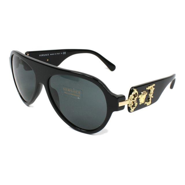 dbf7abbef8f1 Versace - Lunettes de soleil Ve-4323 Gb1 87 Homme Noir - pas cher ...