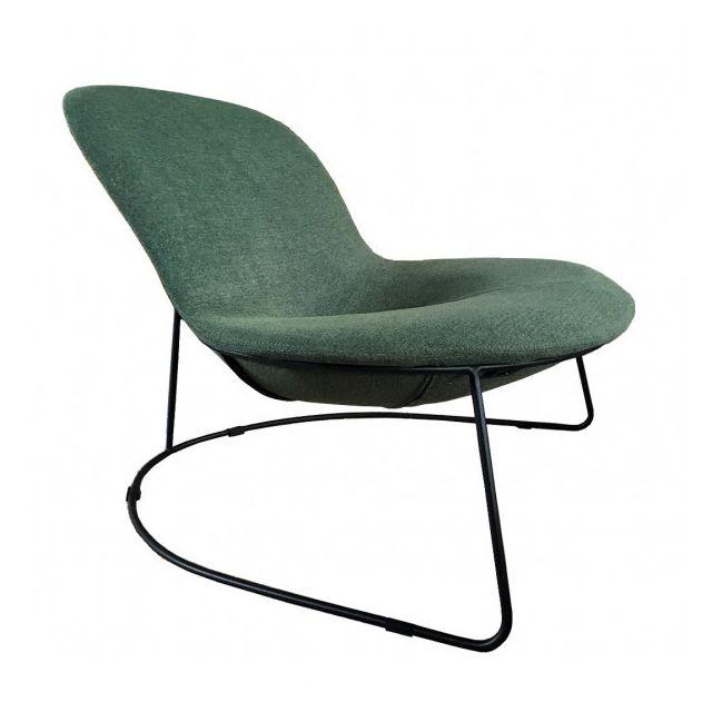 Mathi Design Duck - Fauteuil design contemporain en tissu vert