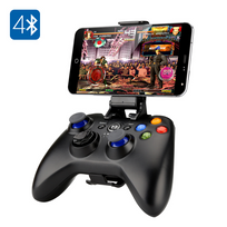 Auto-hightech - Manette Bluetooth Game Pad pour ps3 Smartphone 2 Sticks analogiques 8 boutons d'action Batterie 400mAh