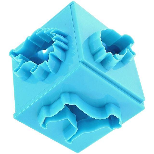 Promobo Set Lot Emporte Pièces Biscuit Forme Cube 6 Faces Animaux Bleu