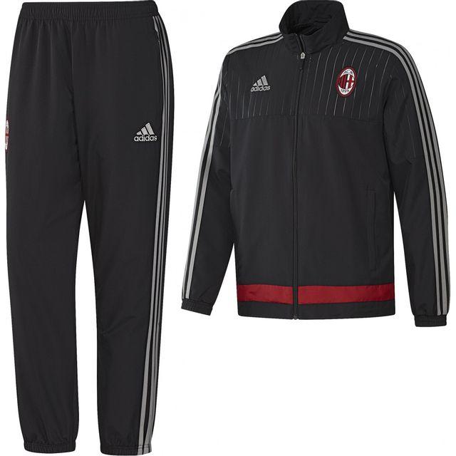 Adidas performance - Survêtement de football Milan Ac Presentation - S20667  - pas cher Achat   Vente Clubs italiens - RueDuCommerce 1ce82042508