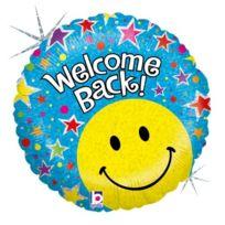 """Betallic - F86691P Ballon - 18 """"WELCOME Back Smiley, Holographique"""
