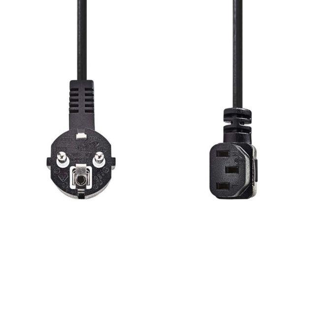 Import Allemagne Wentronic Rallonge Connecteur Schuko vers connecteur Schuko femelle 3m Noir