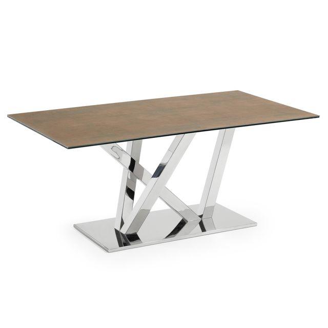 Kavehome Iron pas 200x100inox Corten Table Nyc plateau UpSqzMV