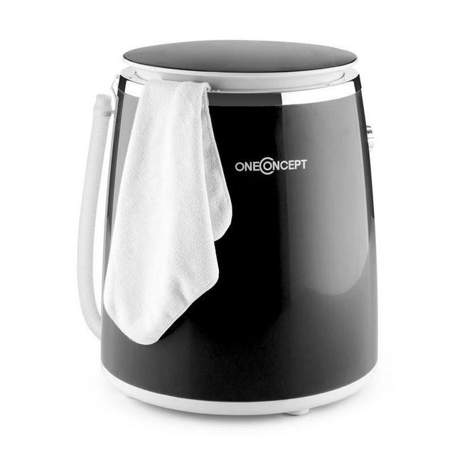 ONECONCEPT Ecowash-Pico Mini machine à laver avec essorage 3,5 kg 380 W - noir