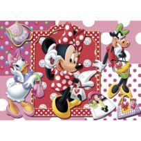 Clementoni - Puzzle 104 pièces : Minnie fait du shopping