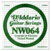 D'ADDARIO - Corde 064 guitare électrique - Filet rond